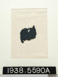 Textile, fragment of blue twill