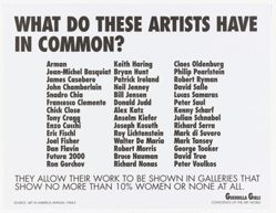 What do these artists have in common? from the Guerrilla Girls' Compleat 1985-2008