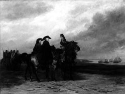 Washington, Rochambeau, and Lauzun at the Battle of Yorktown