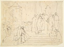 Unidentified Scene with a Bishop