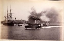 H. M. S. Nelson, Steamer Brighton, Sydney, from the album [Sydney, Australia]