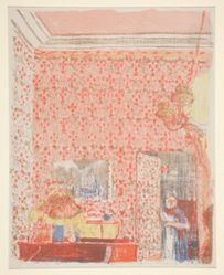 Intérieur aux tentures roses I (Interior with Pink Wallpaper I), from Paysages et Intérieurs (Landscapes and Interiors)