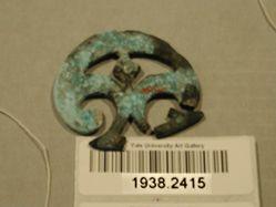 Pierced Bronze Strap Ornament