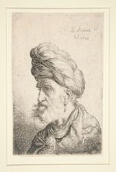 Bust of man with Turban