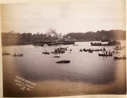 Champion Boat Race, Beach V Hanlan, March 28, 1885, from the album [Sydney, Australia]