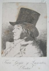 Francisco Goya y Lucientes, Pintor, pl. 1 from the series Los caprichos