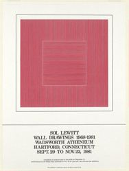 Sol Lewitt, Wall Drawings 1968–1981, Wadsworth Atheneum, Hartford, Connecticut, Sept. 29 to Nov. 22, 1981