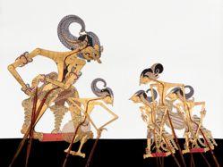 Shadow Puppet (Wayang Kulit) of Yudistira or Dharmakusumo, from the consecrated set Kyai Nugroho