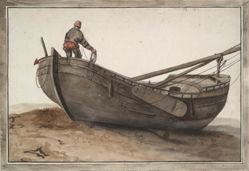Boat and Fisherman on Beach