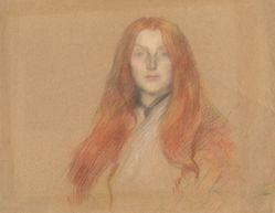 Study for head of Ophelia