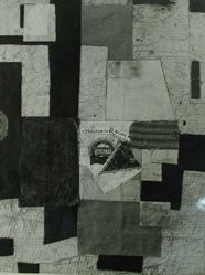 Photograph of Kurt Schwitters collage [unknown location] -- from Katherine S. Dreier's private collection