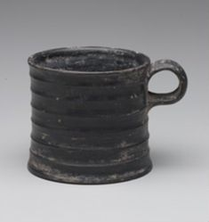 Black-glazed mug