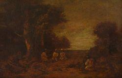 Moonlit Landscape with Indians