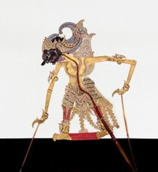 Shadow Puppet (Wayang Kulit) of Gatotkaca, from the consecrated set Kyai Nugroho