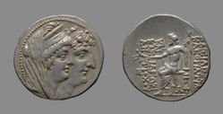 Tetradrachm of Antiochus VIII (Grypus), King of the Seleucid Kingdom; Cleopatra from Antioch