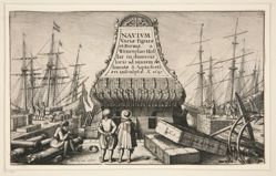 Title plate from Navium varie figurae, number one of a series of twelve etchings of  Dutch ships