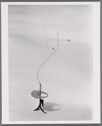 "Photograph of Alexander Calder's ""Mobile-Stabile,"" ca. 1932 [Phillips Collection] -- from Katherine S. Dreier's private collection"