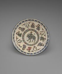 Bowl with an Equestrian and Four Pairs of Seated Figures