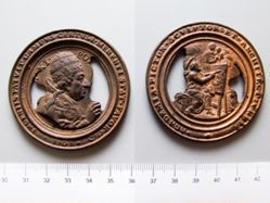 Bronze Papal Medal of Pope Clement XI, 1700-1721