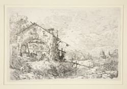 Landscape with a Woman at a Well, from the series Vedute (Views)