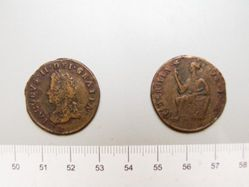 Halfpenny from Limerick with King James II
