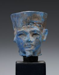 Egyptian Head, possibly Tutankhamun as the god Amun