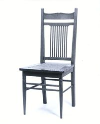 Chair, side (from set: dining table w/ 6 leaves, 2 armchairs, and 6 side chairs)