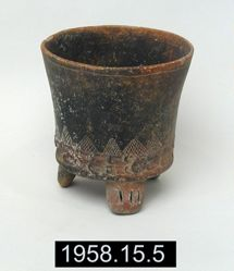 Tripod Vessel with Incised Design