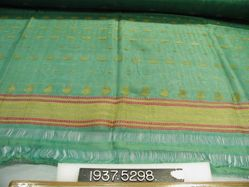 Scarf of brocaded compound cloth and plain cloth