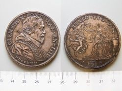 1 Scudo of Unknown; Pope Clement X from Rome