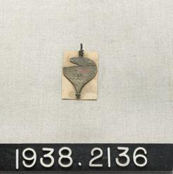 Copper Alloy Leaf-Shaped Pendant