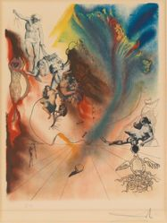 Salvador Dalí, Romantic, from the suite Four Dreams of Paradise