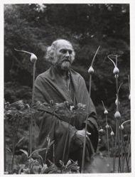 Morris Graves in his leek garden