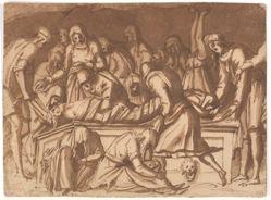 Entombment after Donatello's Pulpito della Resurrezione in Florence, 1460