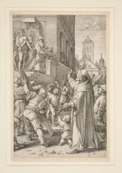 Ecce Homo, from The Passion, #8 in a series of 12 engravings