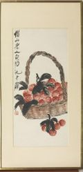 Basket of Litchi