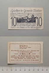 10 Heller from Abstetten, redeemable Dec. 15-31, 1920, Notgeld