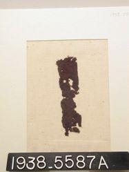 Textile, fragment of purple twill
