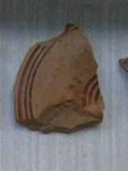 Mycenaean sherd from jar lid