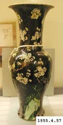 Vase with Plum Tree, Birds, and Rock
