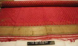 Scarf or sari of brocaded plain cloth