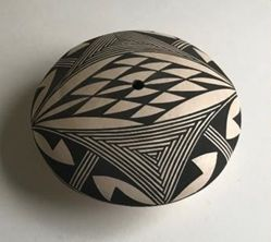 Seed Pot with a Geometric Design