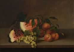 Still Life with Watermelons, Grapes, and Peaches