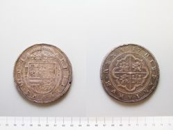 Silver 50 Reales of Philip III from Segovia