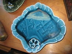 Presentation plate showing four generations of Hohenzollerns