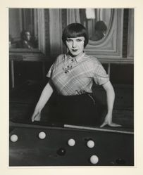 Girl Playing Snooker, Montmarte, from A Portfolio of 10 Photographs by Brassai