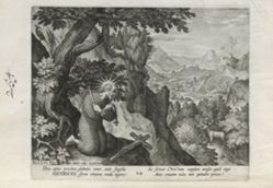 Henricus, number 24 of 25 numbered plates from Trophaeum Vitae Solitariae (Male Hermits)