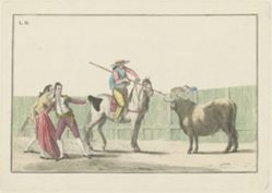 Plate II, from the series Colección de las principales suertes de una corrida de toros (Collection of the Main Actions in a Bullfight)