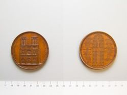 Bronze Medal of Notre-Dame Cathedral from France