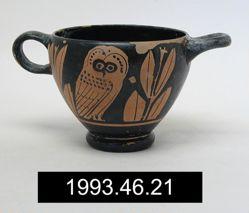 Red-figure Owl Skyphos (glaux)